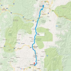 Como llegar de Quito a Ambato