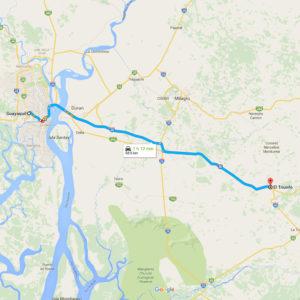 Ruta Guayaquil - El Triunfo